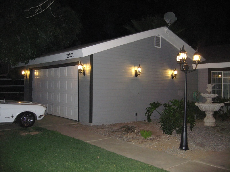 Four new lights added to the garage, much brighter now!